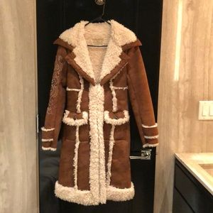 Beautifully embroided Wilson Leather Coat NEW